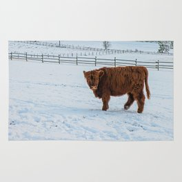 Are you looking at me, Scotish Highland Cow Rug