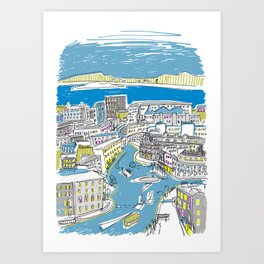 City and Sea Art Print