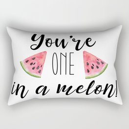 One in a Melon Rectangular Pillow