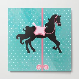 Carousel Horse , amusement park Metal Print
