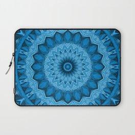 Kaleidoscope Blue sunflower Laptop Sleeve
