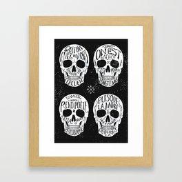 Skulls & Quotes Framed Art Print