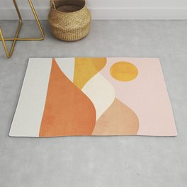 Abstraction_Mountains_Minimalism_001 Rug