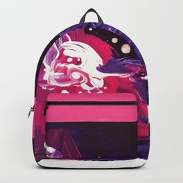 Abstract Painting - Purple, Magenta, White Backpack