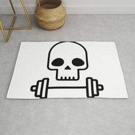 Deadlift - Skull with barbell Rug