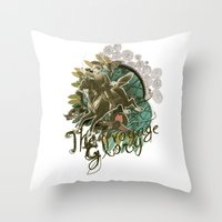 voyage Throw Pillows featuring VOYAGE by TOO MANY GRAPHIX