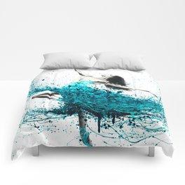Teal Dancer Comforters