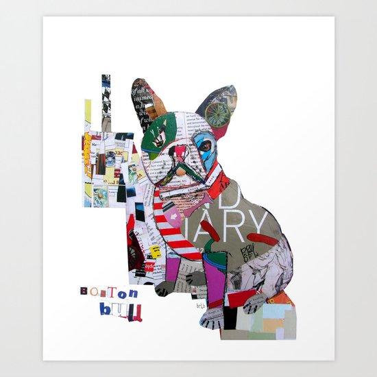 boston bulldog (dogs Art Print