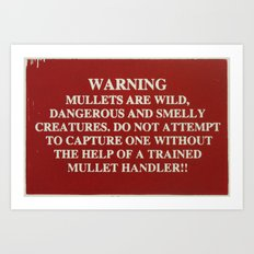 Danger Mullet Art Print