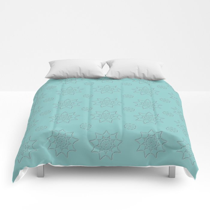 3D Texture Turquoise - Pointilism Pattern Comforters