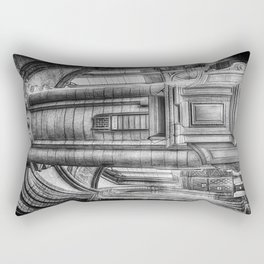 Pulpit in Black and White Rectangular Pillow