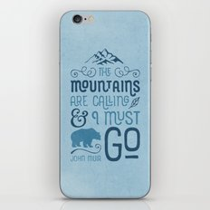 Mountains Are Calling in Blue iPhone & iPod Skin