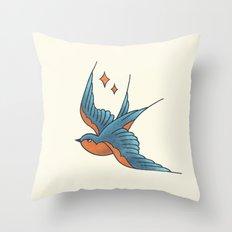 Swallow Flash  Throw Pillow