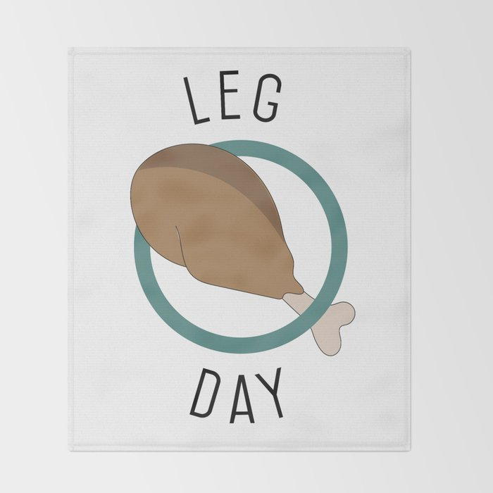 Leg Day Throw Blanket