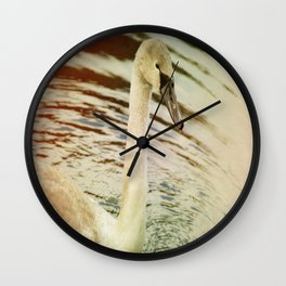 OLD TIMES SWAN. Wall Clock