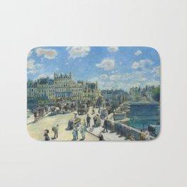 Pont Neuf Paris Painting by Auguste Renoir Bath Mat