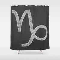 capricorn Shower Curtains featuring Capricorn by David Zydd