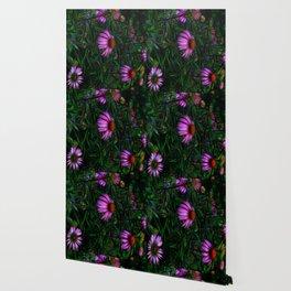 Purple Flower Garden Wallpaper