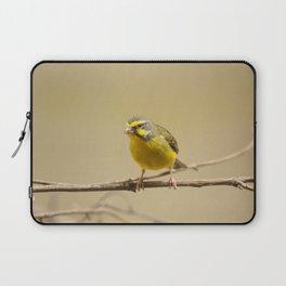 Green singing finch Laptop Sleeve