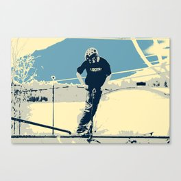 On the Rim - Scooter Boy Canvas Print