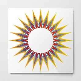 A large Colorful Christmas snowflake- holiday season gifts- Happy new year gifts Metal Print