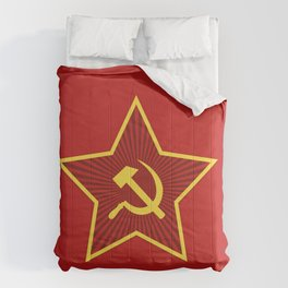 Red Star Hammer and Sickle Comforters