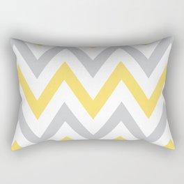Gray & Yellow Chevron Rectangular Pillow