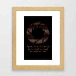 Aperture Science Framed Art Print