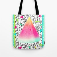 watermelon Tote Bags featuring Watermelon by Danny Ivan