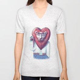 Lion's heart Unisex V-Neck