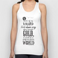 tolkien Tank Tops featuring Tolkien quote by Pau Ricart