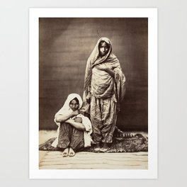 Two Indian Women - Vintage Indian Photography Art Print