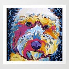 Goldendoodle or Labradoodle Pop Art Dog Portrait Art Print