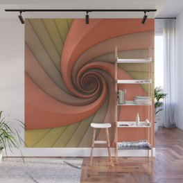 Spiral in Earth Tones Wall Mural