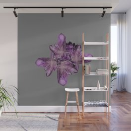 LIGHT PURPLE AMETHYST GEMSTONE CRYSTALS GREY ART Wall Mural