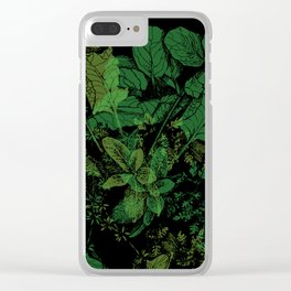 midnight plants Clear iPhone Case