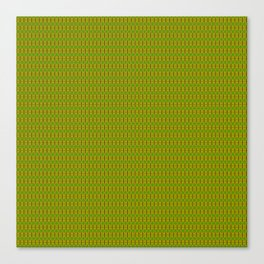 Heliconia Green Gold Stalks Pattern Canvas Print