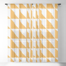 Geometric Pattern 01 Yellow Sheer Curtain