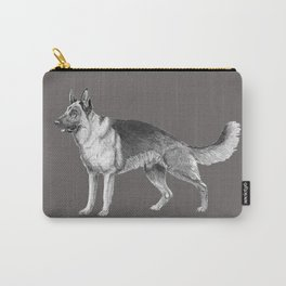 German shepherd - ink Carry-All Pouch