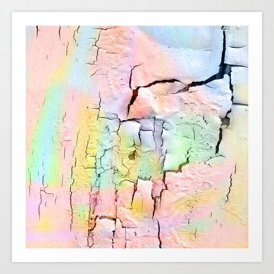 Pastel Decay Art Print