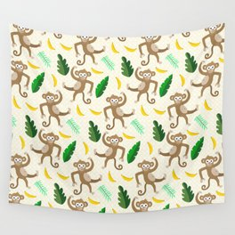 monkey see monkey do Wall Tapestry
