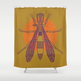 Dragon-fly headshell Shower Curtain
