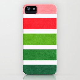 Red & Green Geometric Pattern iPhone Case