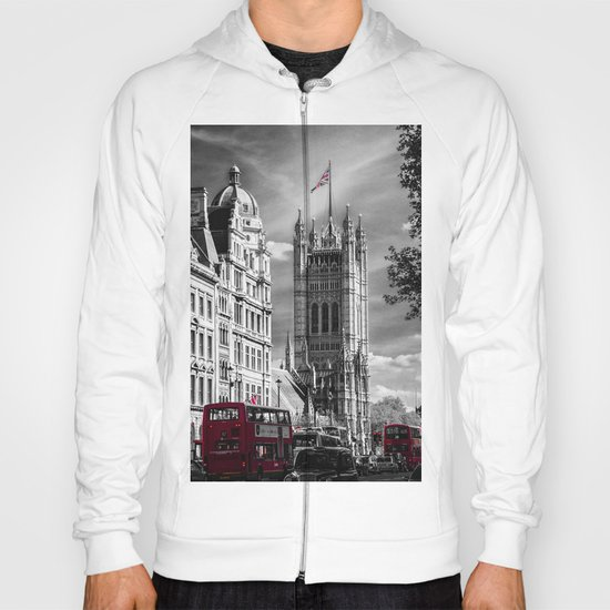 Red London Buses and Westminster Cathedral Hoody
