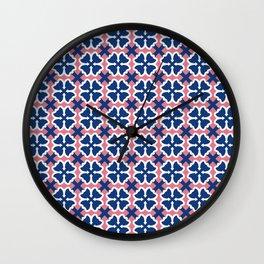 Blue Clover Wall Clock