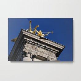 Pont Alexandre III - Details of Paris Series Metal Print