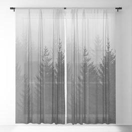 Oh Foggy Days  Sheer Curtain