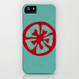 Aqua Tomato Slice iPhone Case