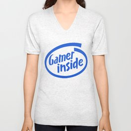 Gamer iNSIDE blue Unisex V-Neck