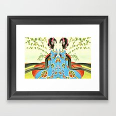 Psychedelic Love Framed Art Print